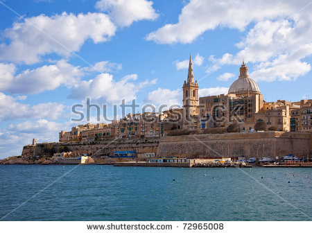 stock-photo-view-of-valletta-with-our-lady-of-mount-carmel-church-dome-malta-72965008